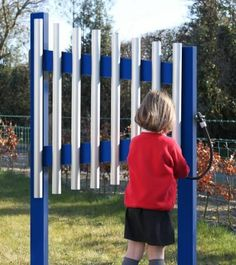 outdoor xylophone/chimes. use old pipes. different sounds made from varied lengths
