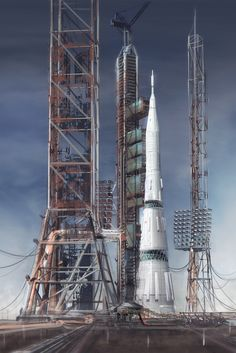 N1 Rocket, Mac Rebisz on ArtStation at http://www.artstation.com/artwork/n1-rocket