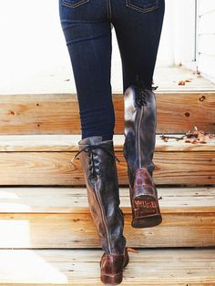 mrssaunders1022:  freepeople:  Look good walking away.Shop these boots.  Fall goals, tbh.