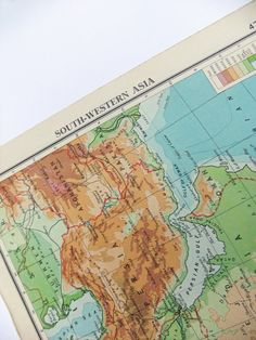South Western Asia Vintage Map - 1949 map - great for home decor on Etsy, £5.00