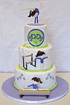 gymnastics cake - Google Search Gymnastics Birthday Cakes, 9th Birthday Cake, Bithday Cake, Gymnastics Party, Trampoline Cake, Gym Cake, Hedgehog Cake, Cupcake Cakes, Cupcakes