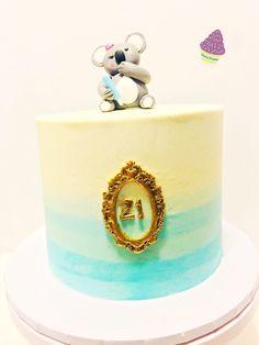 Koala Bear Ombre Cake Ombre Cake, Bear, Cakes, Desserts, Food, Meal, Deserts, Essen, Bears