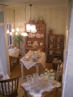 lovely ambience in this miniature room