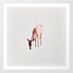 Deer Art Print by llaurenrachell Cheap Wall Decor, Deer Art, Art Prints, Art Impressions