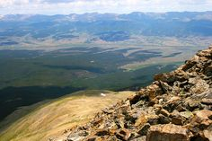 My view coming down from Mt. Elbert, Colorado's highest peak at 14,433'.  Several false summits made this hike appear even longer -- but worth every step!