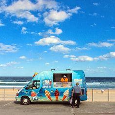 Ice Cream van, Bondi Beach, Sydney Australia by heredownunder Bondi Beach Sydney, Sydney Beaches, Sydney City, The Sound Of Waves, Ice Cream Van, Famous Beaches, Summer Dream, Cool Countries, Sydney Australia