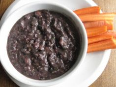 Homemade Black Bean Dip. I'm not crazy about the picture but it sounds delicious. There's also a good tip on freezing cilantro. Who knew?