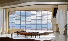 Natural History Museum of Utah. Love this modern take of influencing the window structure with art form