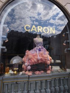 Window shopping ~ Caron powder puff dress !!! THE premier perfumery!