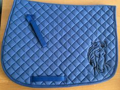 English All Purpose Saddle Pad-Royal Blur-Embroidered Horse | Etsy Horse Saddle Pads, Horse Saddles, Horse Names, Royal Blue Color, Horse Head, Maid Of Honor, Blur, My Best Friend, Machine Embroidery