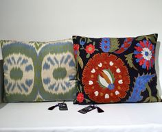 Suzani & Ikat Cushions, unique by design at Heritage Collection