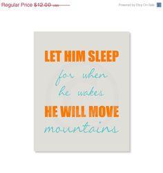 Baby boy Let Him Sleep nursery art print Wall Decor by YassisPlace