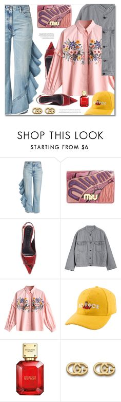 """Swag Girls"" by defivirda ❤ liked on Polyvore featuring Citizens of Humanity, Miu Miu, Marni, Michael Kors and Gucci"