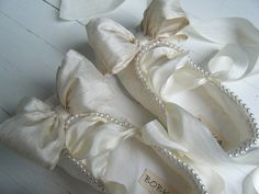 Bridal Ballet Flats Wedding Shoes Lace Ballet Shoes by BobkaBaby, $175.00