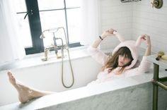 Lou Doillon. Pink bunny ears. A bathtub. YES.