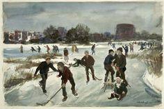 John Whorf, Winter, East Boston, 1933.