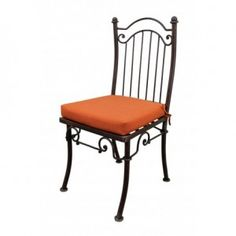 Iron Dining Chair with Cushion Southwest Style Furniture