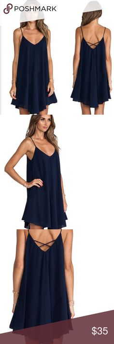 NEW Beach cover up/Casual strappy dress Perfect to us as a beach cover up! Chiffon material with see through bottom. Very cute and trendy for the summer. Very breathable. Slightest bit of see through , through the chiffon to show to appearance of the bikini. Swim Coverups