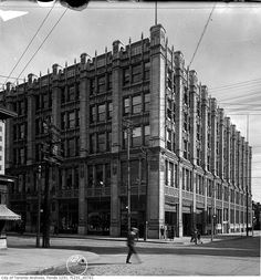 Toronto - 299 Queen Street West in 1919 Toronto Architecture, Amazing Architecture, Scarborough Bluffs, Queen Street West, Toronto Photos, Union Station, Marketing, Landscape Photos, Back In The Day