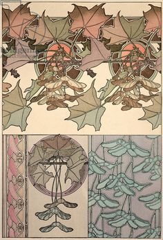 Plate 39 from 'Documents Decoratifs', 1902 (colour litho)
