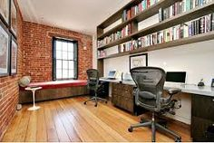 Home office designs to inspire you and gives you the feeling of sophisticated environment. Scroll down to checkout 20 Smart Home Office Design Ideas. Brick Interior Wall, Home Office Design, Home Office Decor, Office Interior Design, Interior Design, Home Decor, Loft Office, House Interior, Industrial Home Offices