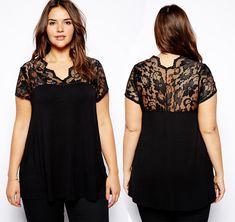piniful.com plus size blouses (30) #plussizefashion
