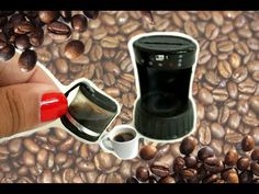 DIY MINIATURE Coffeemaker ( REALLY WORKS!!) tutorial | Binkybee - YouTube