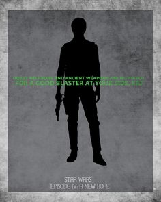 Han Solo character poster from a New Hope