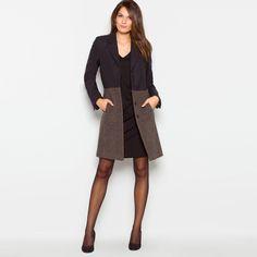 Abrigo - Solapas de bolsillos en la costura lateral - LAURA CLEMENT