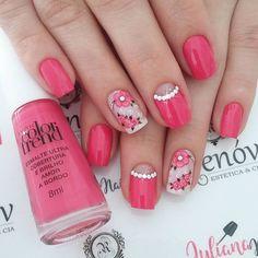 35 modelos de unhas decoradas as unhas decoradas fazem parte do visual de m Best Nail Art Designs, Beautiful Nail Designs, Gel Nail Art, Acrylic Nails, Pink Manicure, Latest Nail Art, Finger, Holiday Nails, Trendy Nails