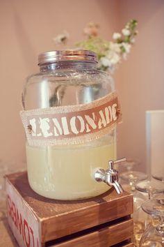 Limonade pour les mariages d'été