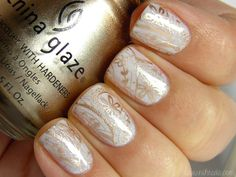 White Wedding with Gold Stamping