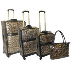 12d1201a8721 I found this amazing Adrienne Vittadini 4-Piece Luggage Set - Faux Suedette  at nomorerack