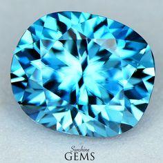 7.22ct Blue Zircon MJ6582 $1395