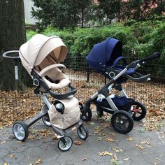 Family likeness with different personalities – Scandinavian original Stokke strollers, Stokke Xplory and All Terrain Stokke Trailz