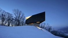 Ski slope observatory frames vistas of a picturesque chinese landscape. by META-project