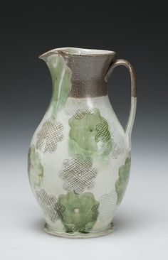 Linda Sikora's Pitcher, 2012. Linda Sikora was a featured artist in the February 2015 issue of Ceramics Monthly. http://ceramicartsdaily.org/ceramics-monthly/ceramics-monthly-february-2015/