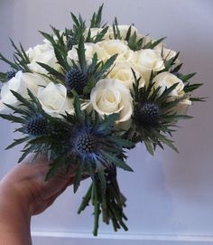 From A Stylist Scottish bridal bouquet with Scottish thistle You can find Scotland and more on our website.Notes From A Stylist Scottish bridal bouquet with Scottish thistle You can find Scotland and more on our website. Yellow Wedding Flowers, Cheap Wedding Flowers, Bridal Flowers, Flower Bouquet Wedding, Corsage Wedding, Lavender Flowers, Bridal Bouquets, Wildflowers Wedding, Lavender Bouquet