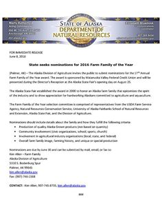 Farm Family of the Year nominations are now OPEN!!!!