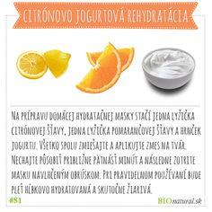 Citrónovo jogurtová hydratačná maska #diy #vyrobsiama