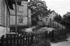 Puutaloja Länsi-Pasilassa. 1970