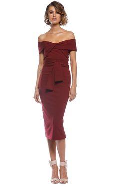 1a91eedf15a7 Pasduchas Celia Twist Midi Dress