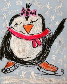 penguin / winter art project