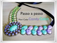 Passo a Passo: Maxi Colar Candy Color - YouTube
