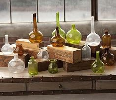 Stuff like beakers on top of shelves