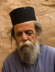 An old monk at St Catherine Monastery, Sinaï Peninsula, Egypt