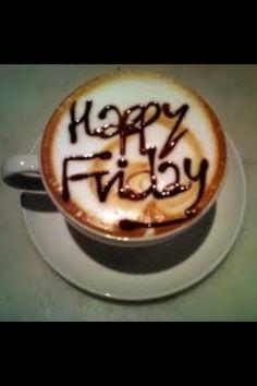 Happy Friday Coffee Enjoy your Weekend friends! Coffee Latte, I Love Coffee, Coffee Break, My Coffee, Coffee Time, Morning Coffee, Happy Coffee, Starbucks Coffee, Coffee Aroma