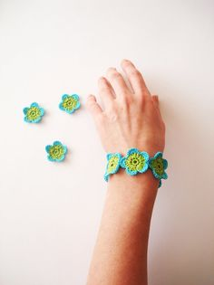 bracelet $14 on etsy by CrochetPocket