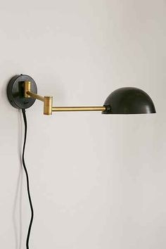 Iris Dome Sconce - Urban Outfitters - halfway between a sconce and a library/gallery light
