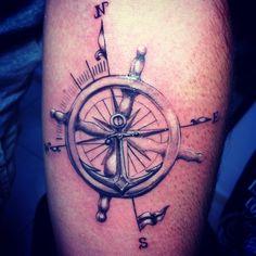 Compas Tattoo Custom Design Dikel's Art Studio Burak Dikel Tattoo Adana/Turkey